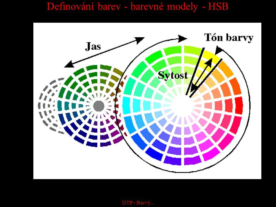 Definování barev - barevné modely - HSB