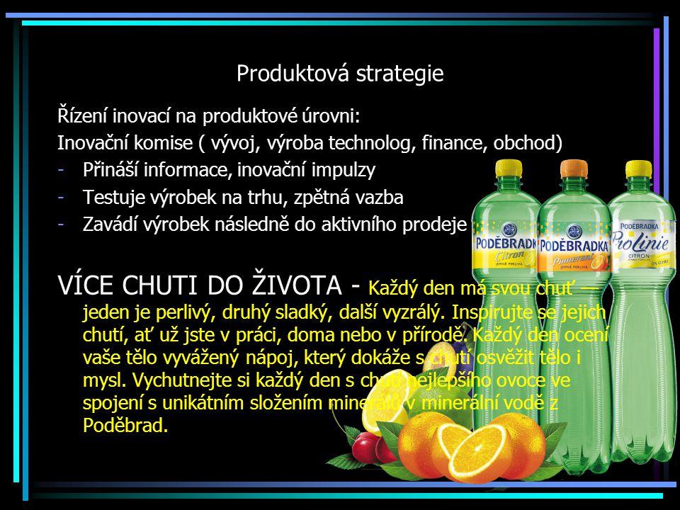 Produktová strategie Řízení inovací na produktové úrovni: Inovační komise ( vývoj, výroba technolog, finance, obchod)