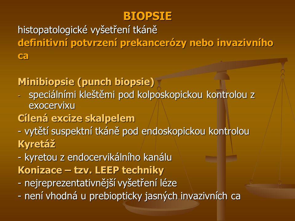 BIOPSIE histopatologické vyšetření tkáně