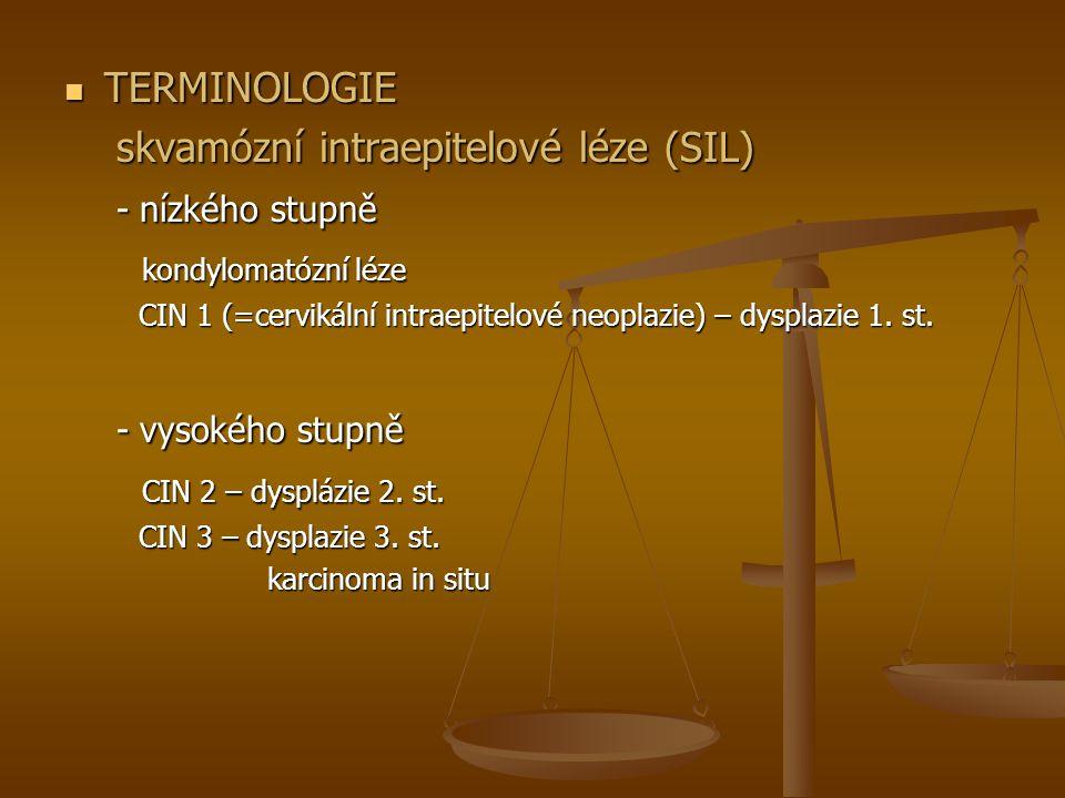 skvamózní intraepitelové léze (SIL) - nízkého stupně