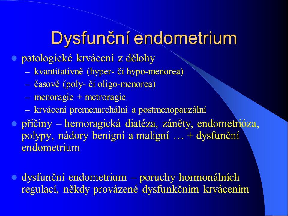 Dysfunční endometrium
