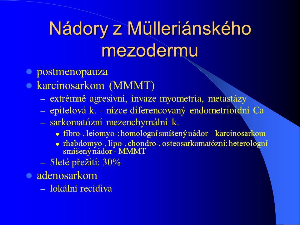 Nádory z Mülleriánského mezodermu
