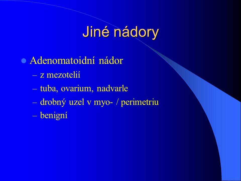 Jiné nádory Adenomatoidní nádor z mezotelií tuba, ovarium, nadvarle