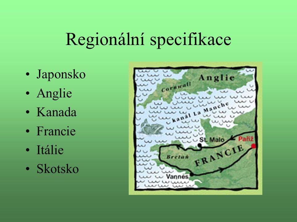 Regionální specifikace