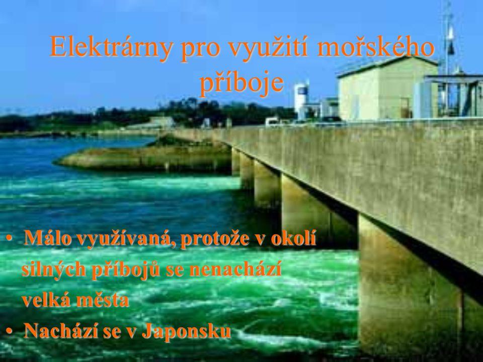 Elektrárny pro využití mořského příboje