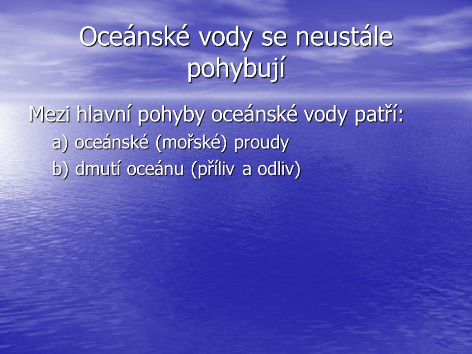 Oceánské vody se neustále pohybují