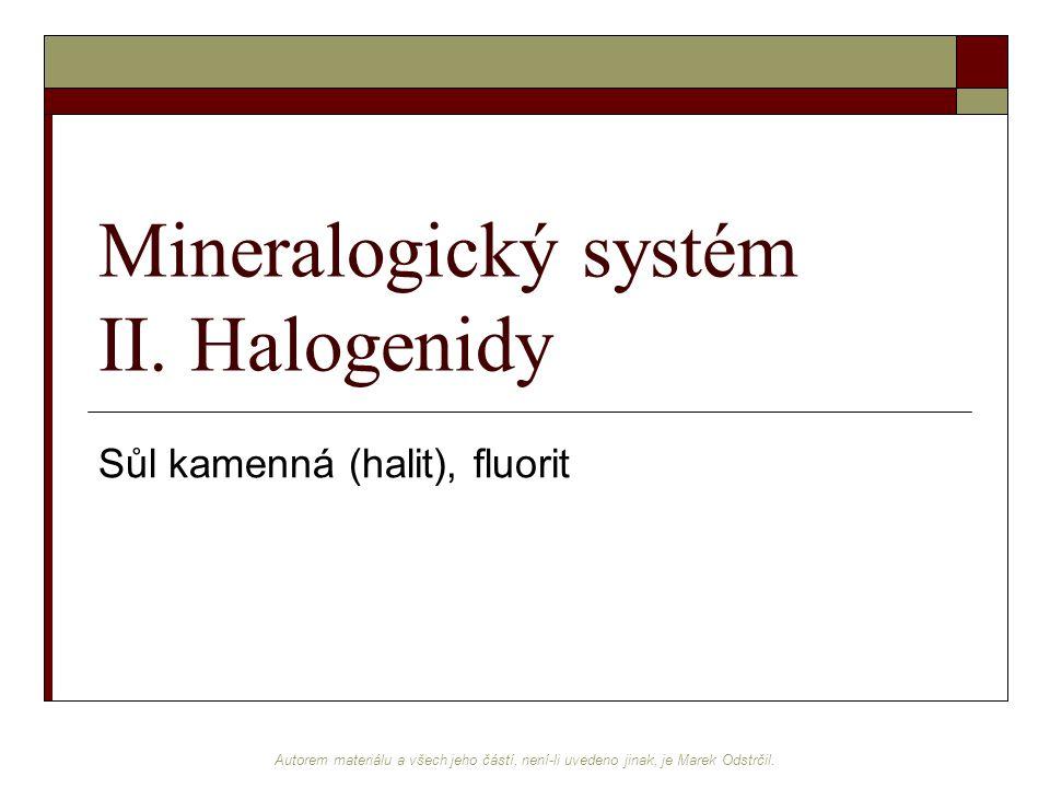 Mineralogický systém II. Halogenidy