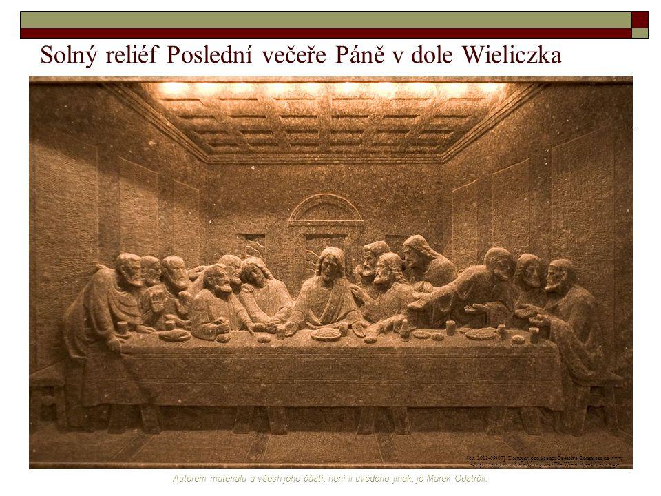 Solný reliéf Poslední večeře Páně v dole Wieliczka