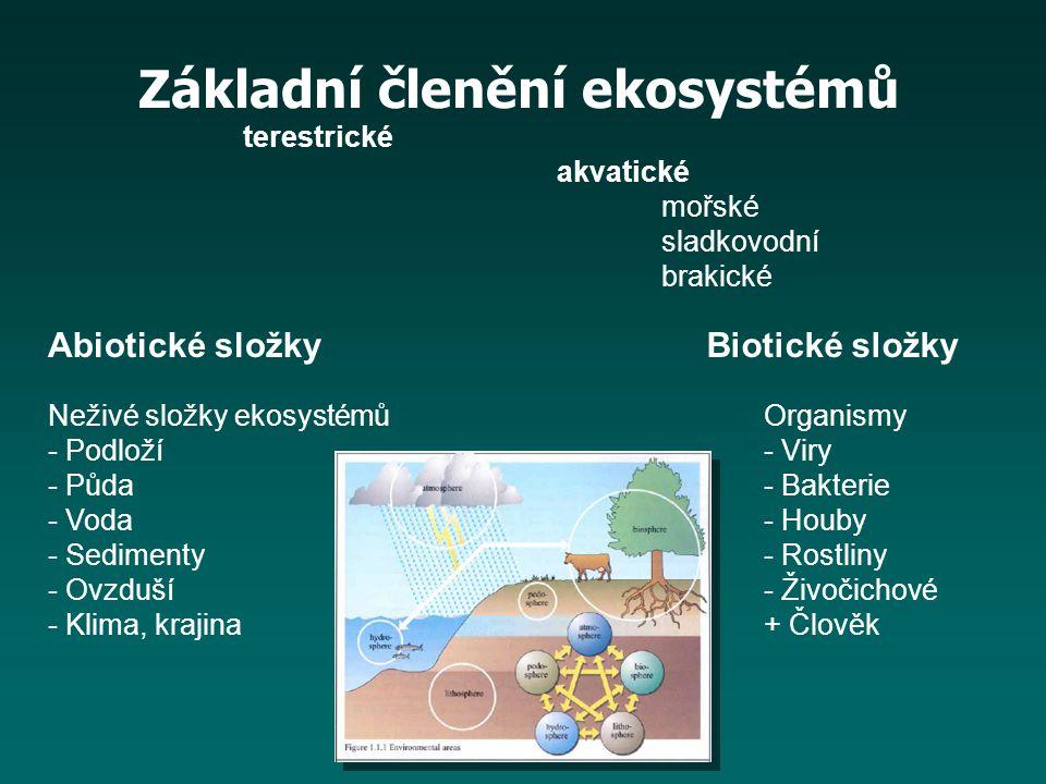Základní členění ekosystémů