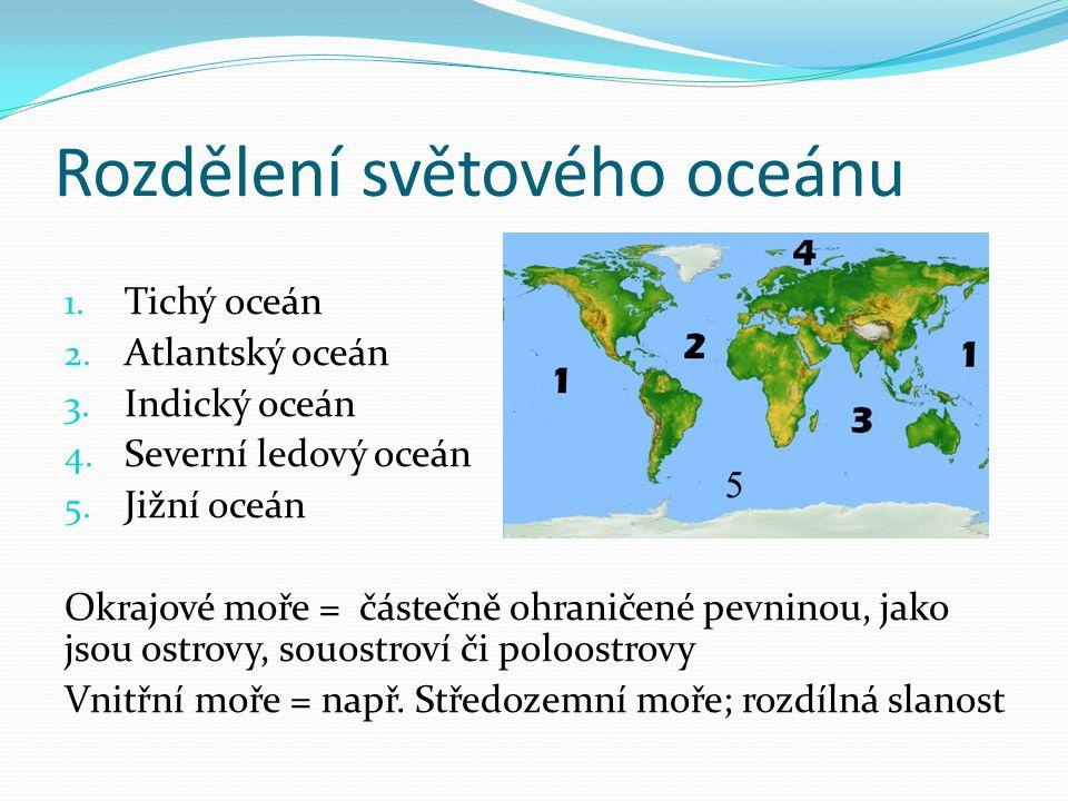 Rozdělení světového oceánu