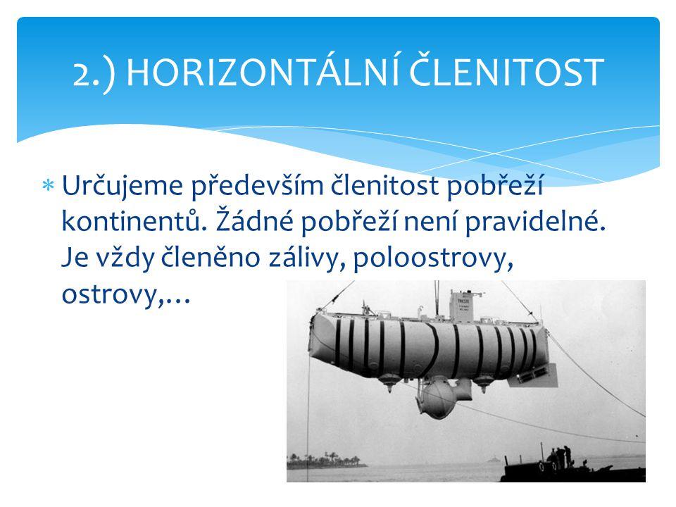 2.) HORIZONTÁLNÍ ČLENITOST