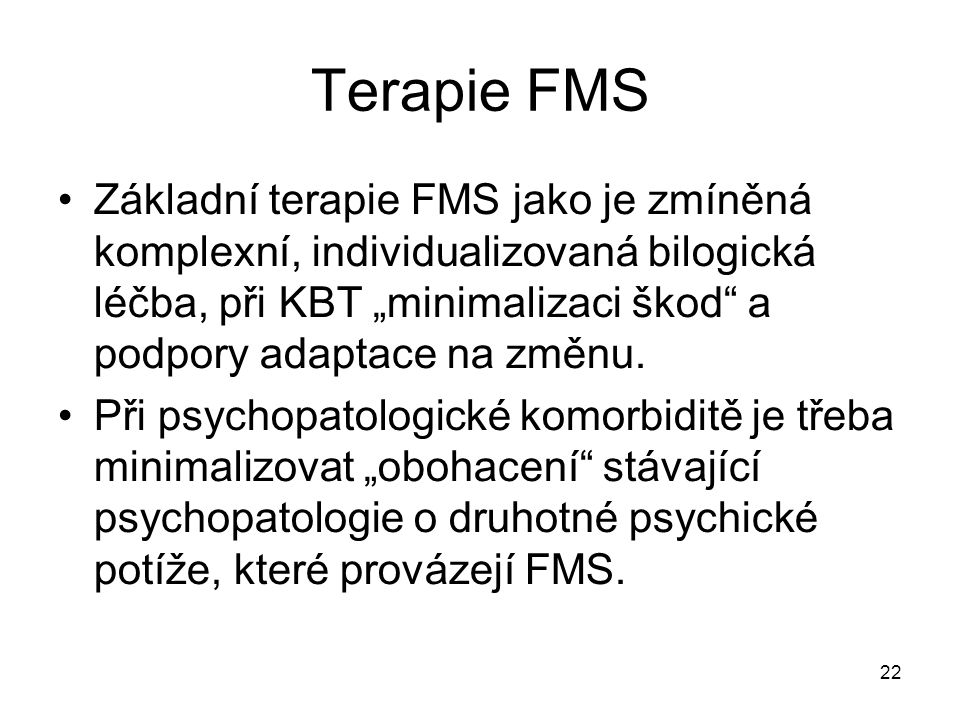 Terapie FMS