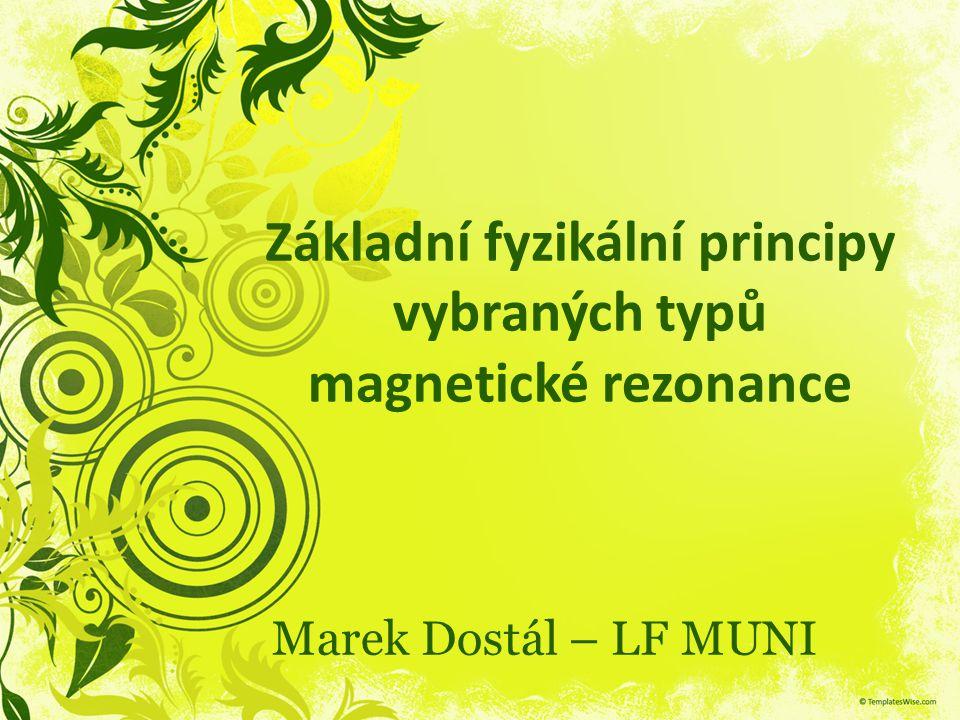 Základní fyzikální principy vybraných typů magnetické rezonance