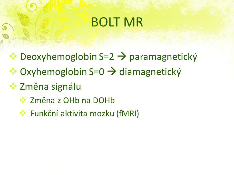 BOLT MR Deoxyhemoglobin S=2  paramagnetický