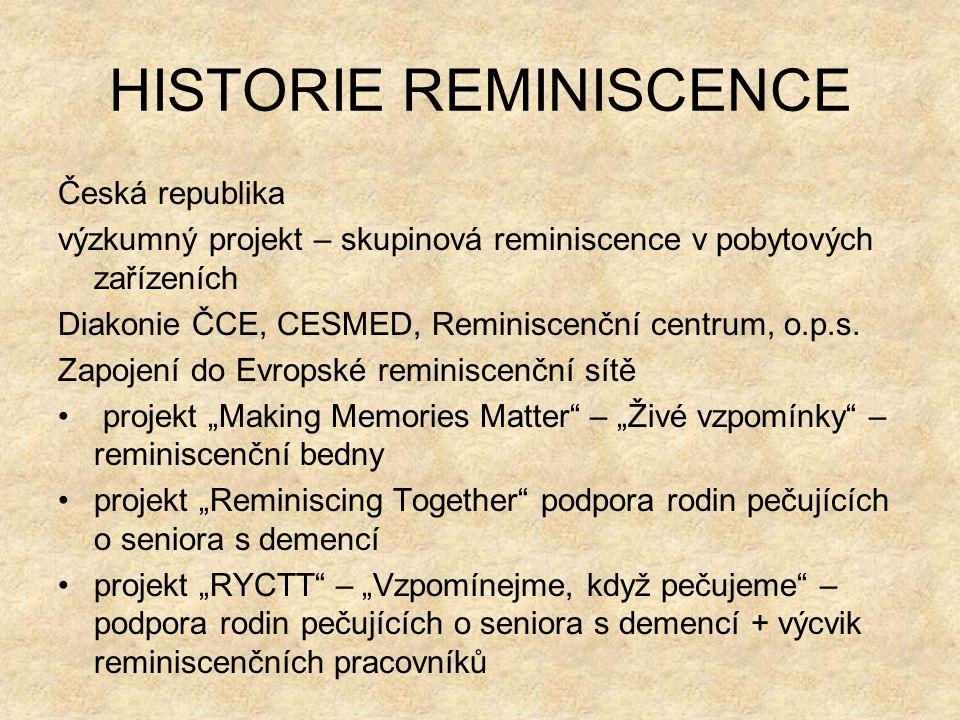 HISTORIE REMINISCENCE