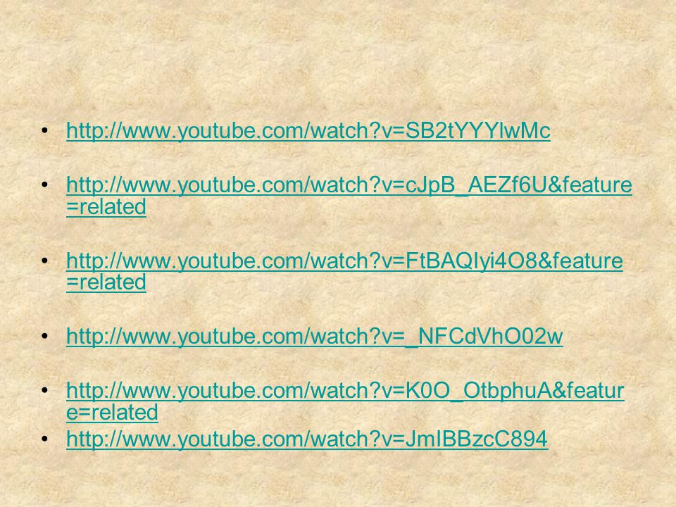 http://www.youtube.com/watch v=SB2tYYYlwMc http://www.youtube.com/watch v=cJpB_AEZf6U&feature=related.