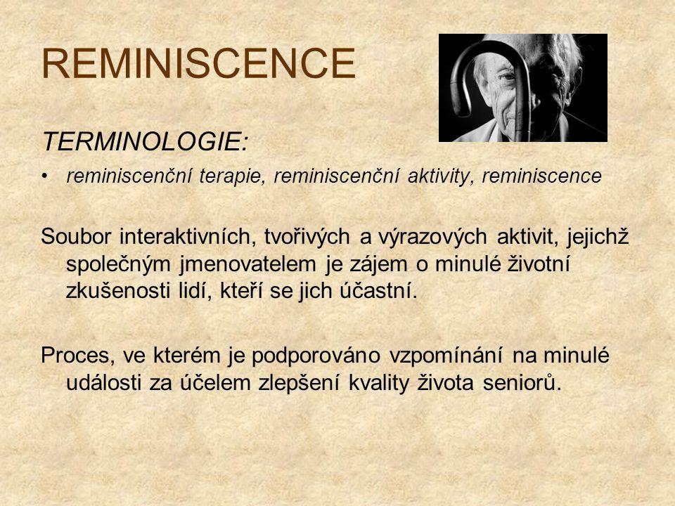 REMINISCENCE TERMINOLOGIE: