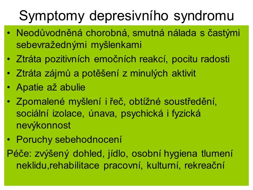 Symptomy depresivního syndromu