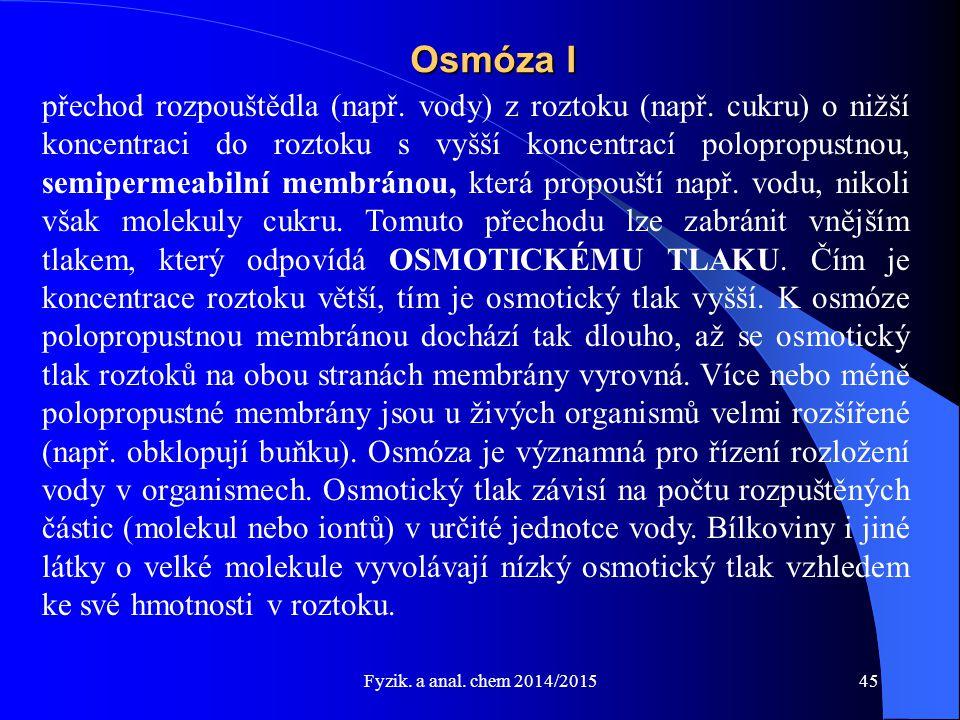 Osmóza I