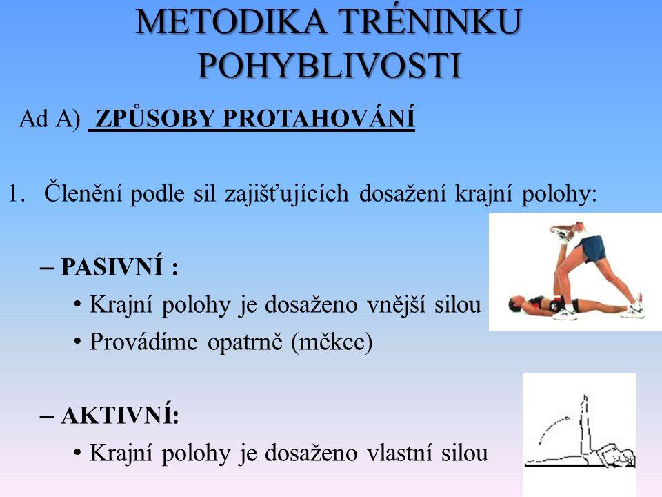 METODIKA TRÉNINKU POHYBLIVOSTI