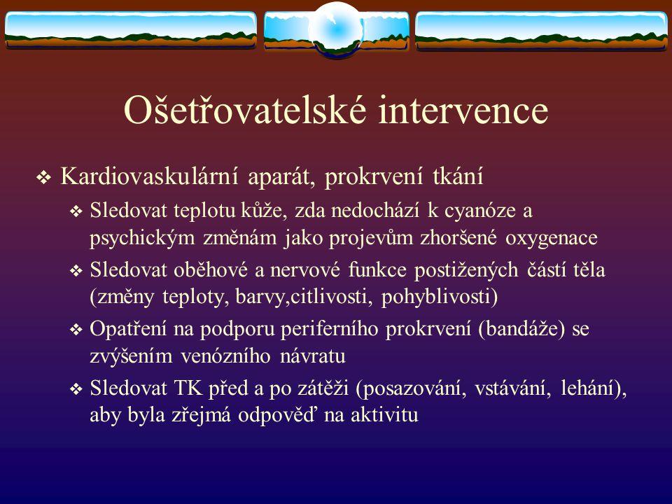 Ošetřovatelské intervence