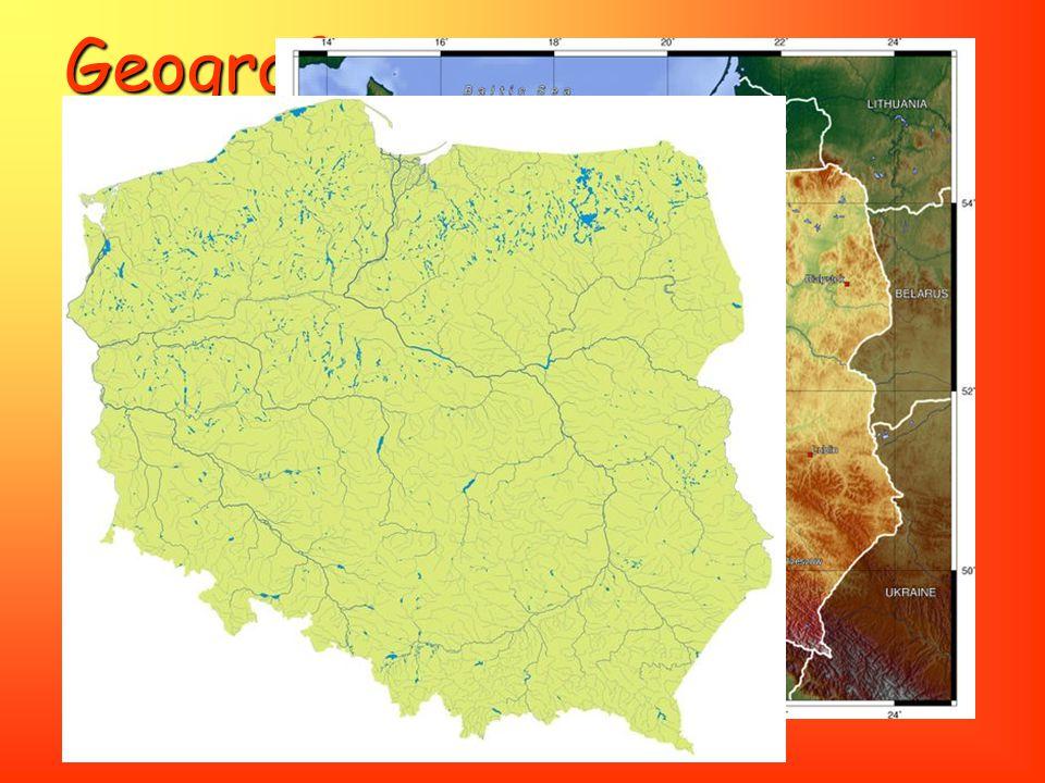 Geografie Využití půdy: 47 % rozlohy Polska tvoří orná půda, 29 % tvoří. lesy, pastviny 13 %, ostatní 11 %