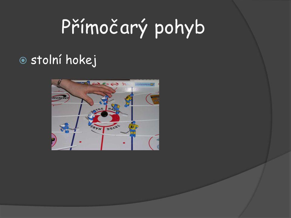 Přímočarý pohyb stolní hokej