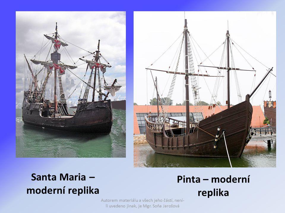Santa Maria – moderní replika Pinta – moderní replika