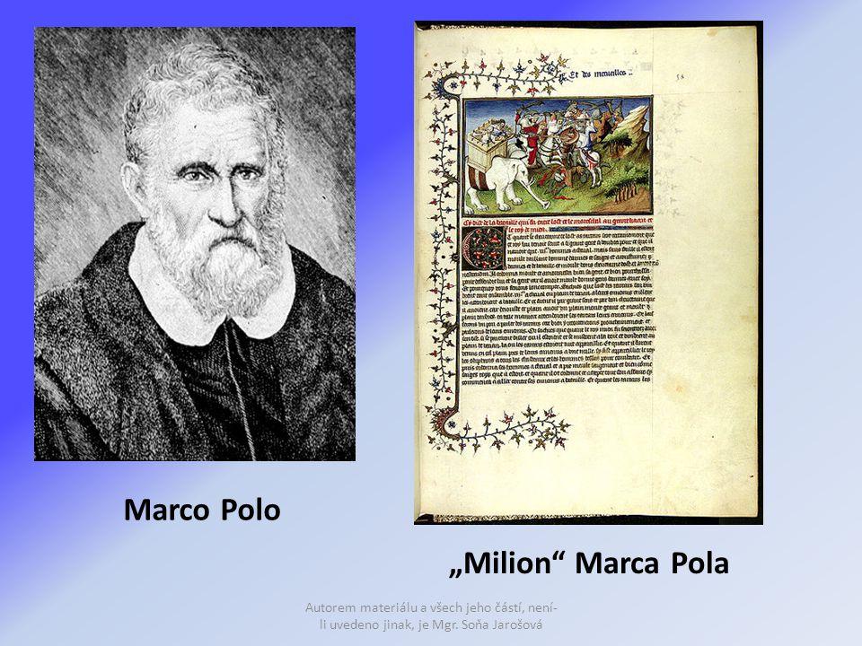 "Marco Polo ""Milion Marca Pola"