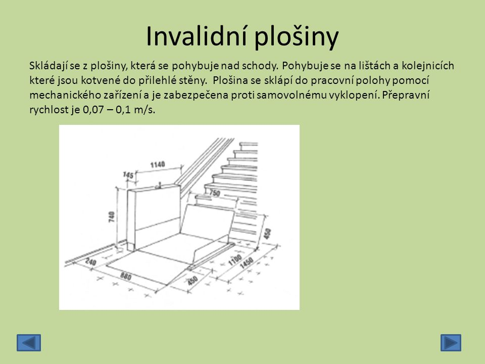 Invalidní plošiny