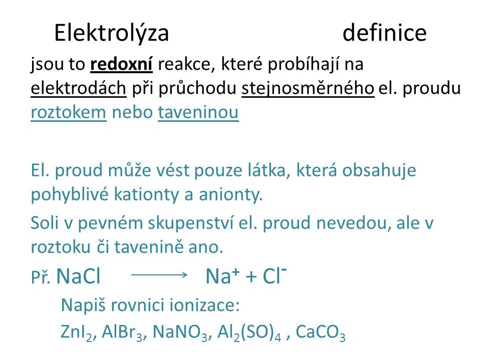 Elektrolýza definice