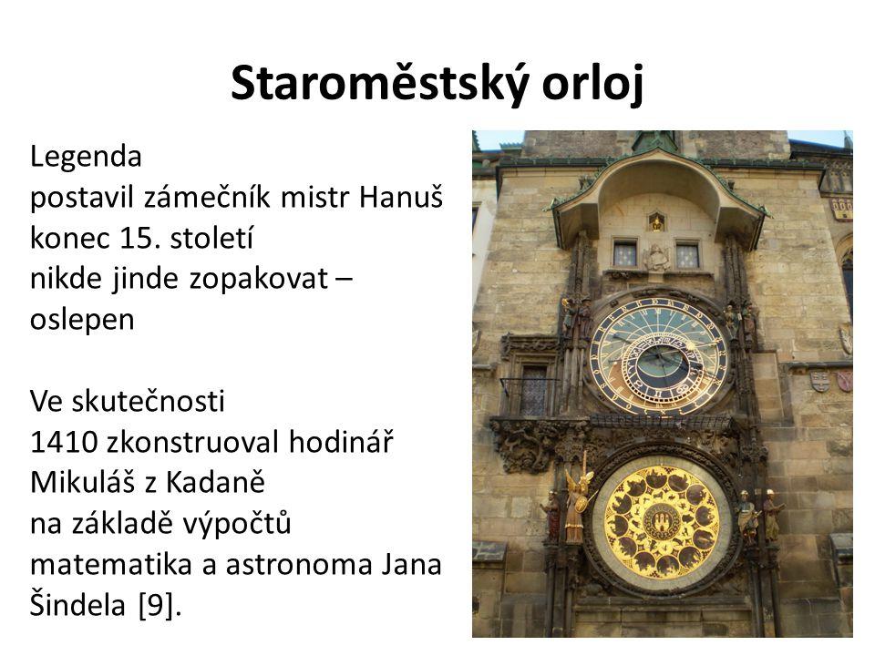 Staroměstský orloj Legenda