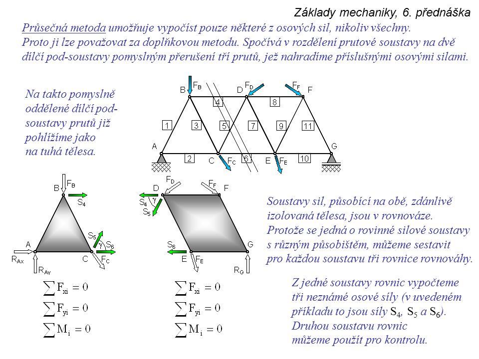 Základy mechaniky, 6. přednáška