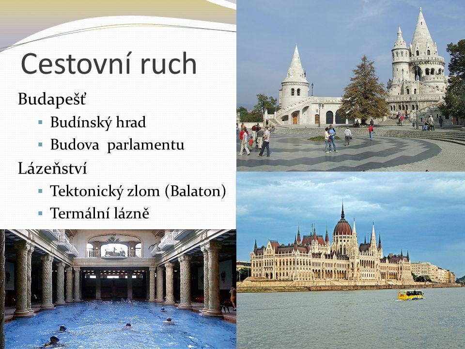 Cestovní ruch Budapešť Lázeňství Budínský hrad Budova parlamentu