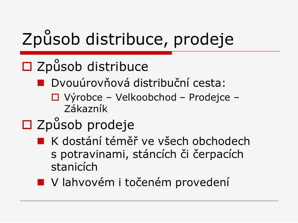 Způsob distribuce, prodeje
