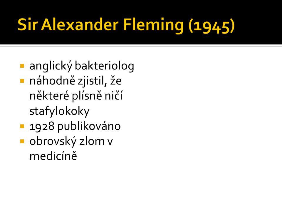 Sir Alexander Fleming (1945)