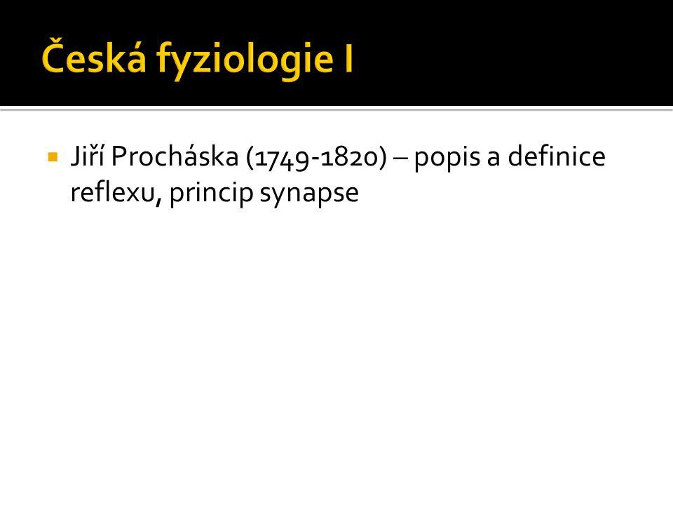 Česká fyziologie I Jiří Procháska (1749-1820) – popis a definice reflexu, princip synapse