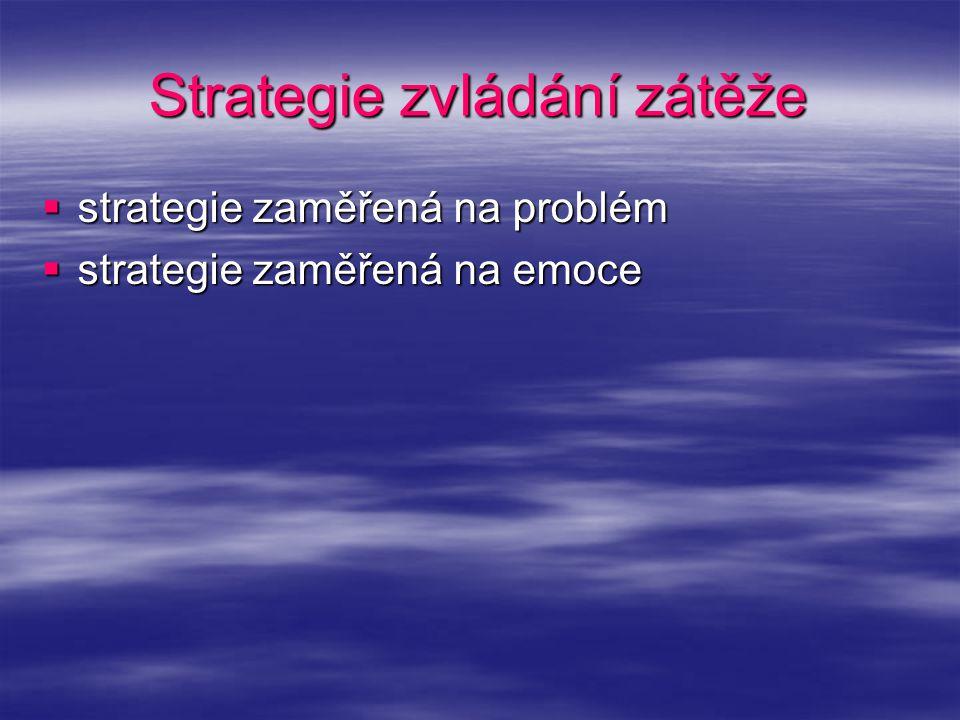 Strategie zvládání zátěže