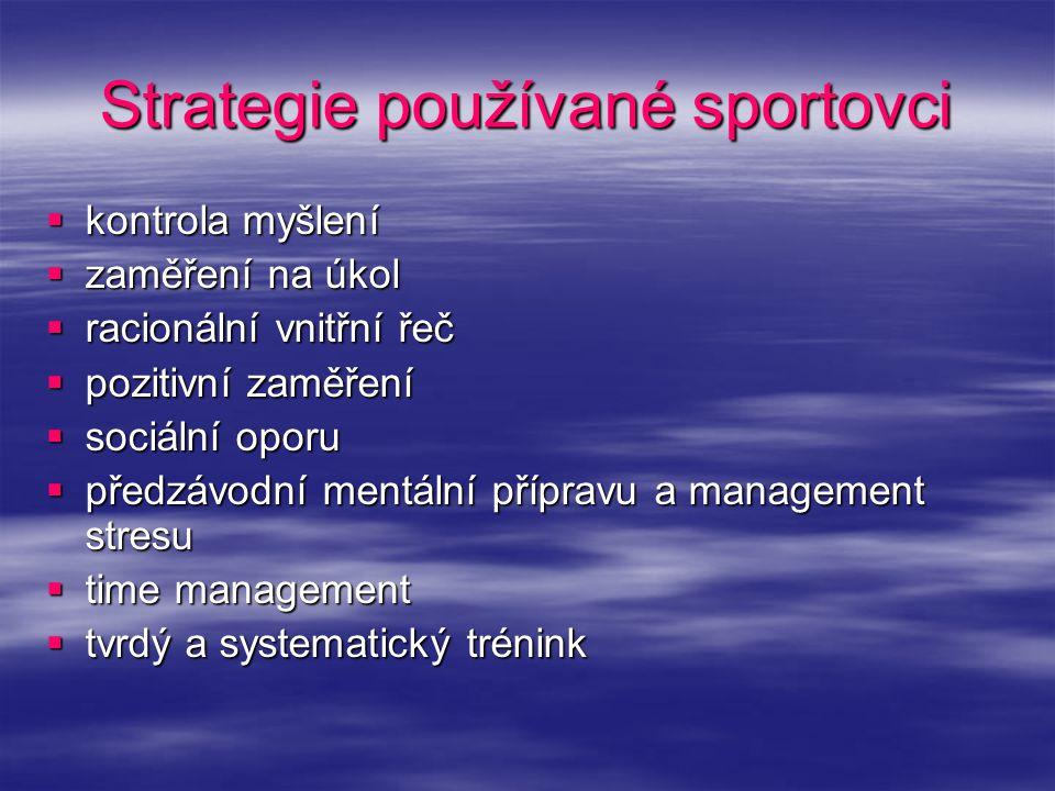 Strategie používané sportovci