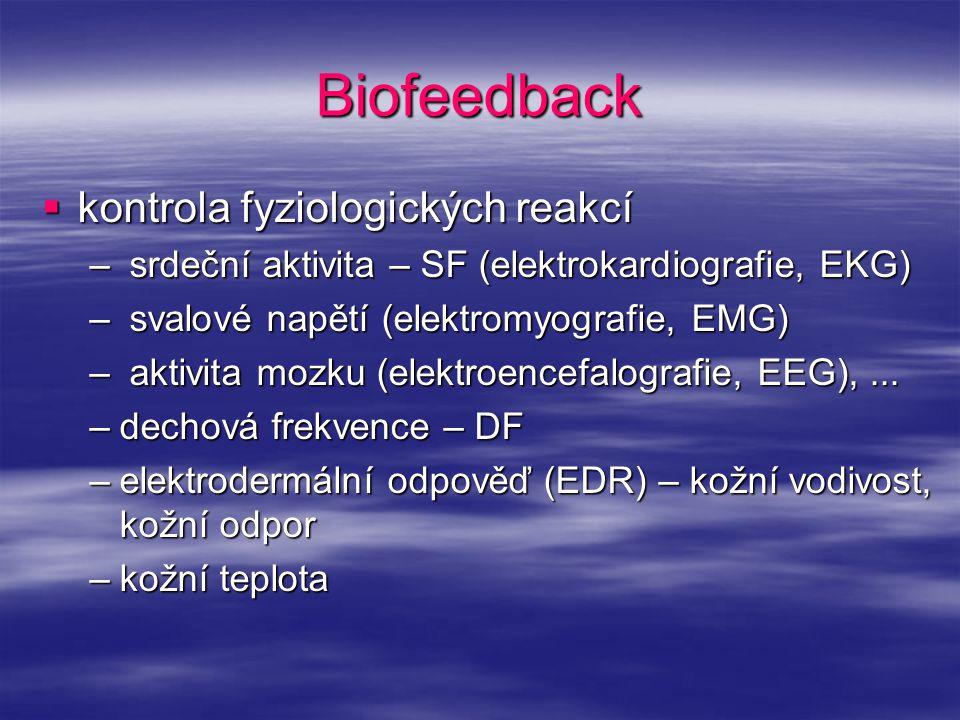Biofeedback kontrola fyziologických reakcí