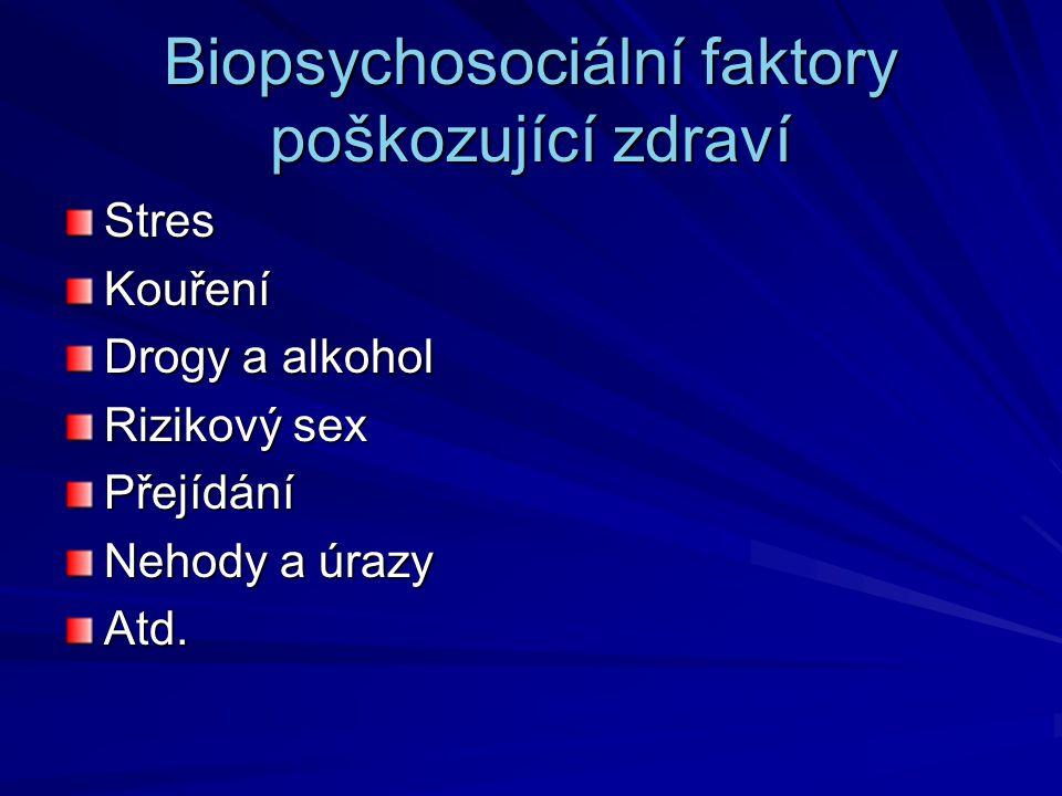 Biopsychosociální faktory poškozující zdraví