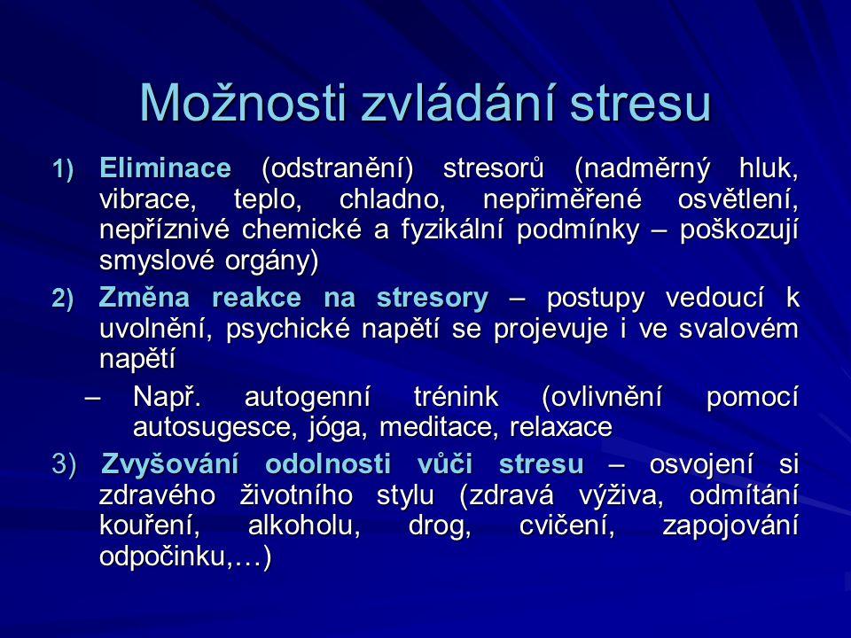 Možnosti zvládání stresu