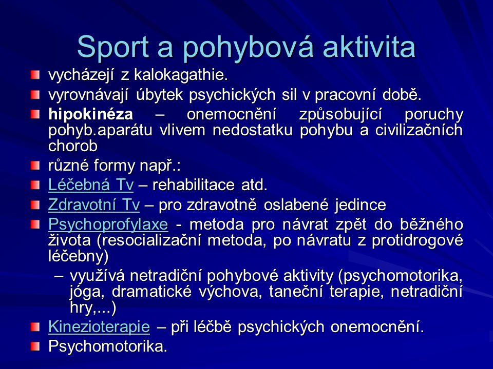 Sport a pohybová aktivita