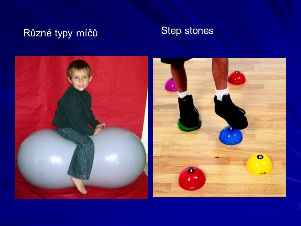 Step stones Různé typy míčů