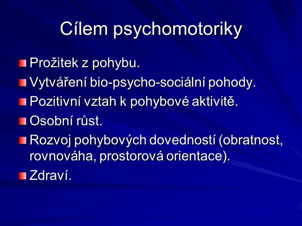 Cílem psychomotoriky Prožitek z pohybu.