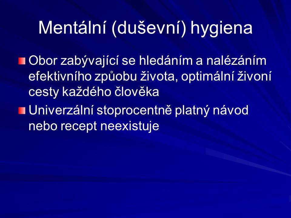 Mentální (duševní) hygiena