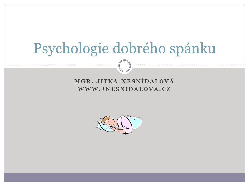 Psychologie dobrého spánku
