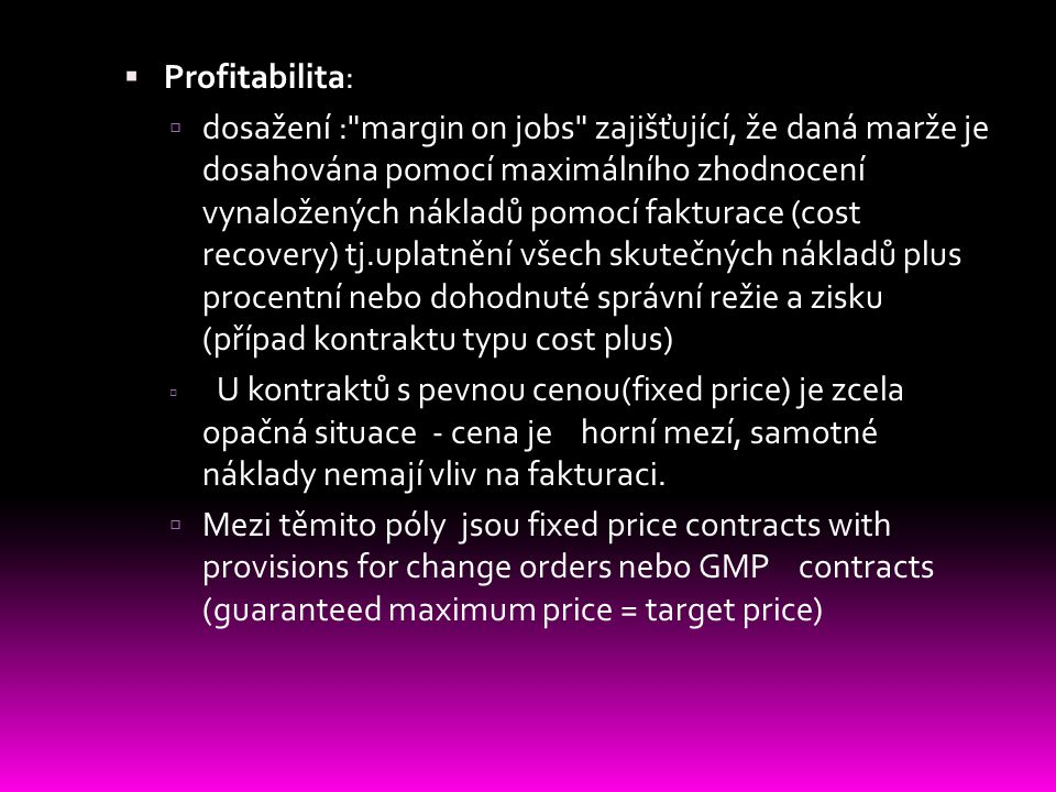 Profitabilita: