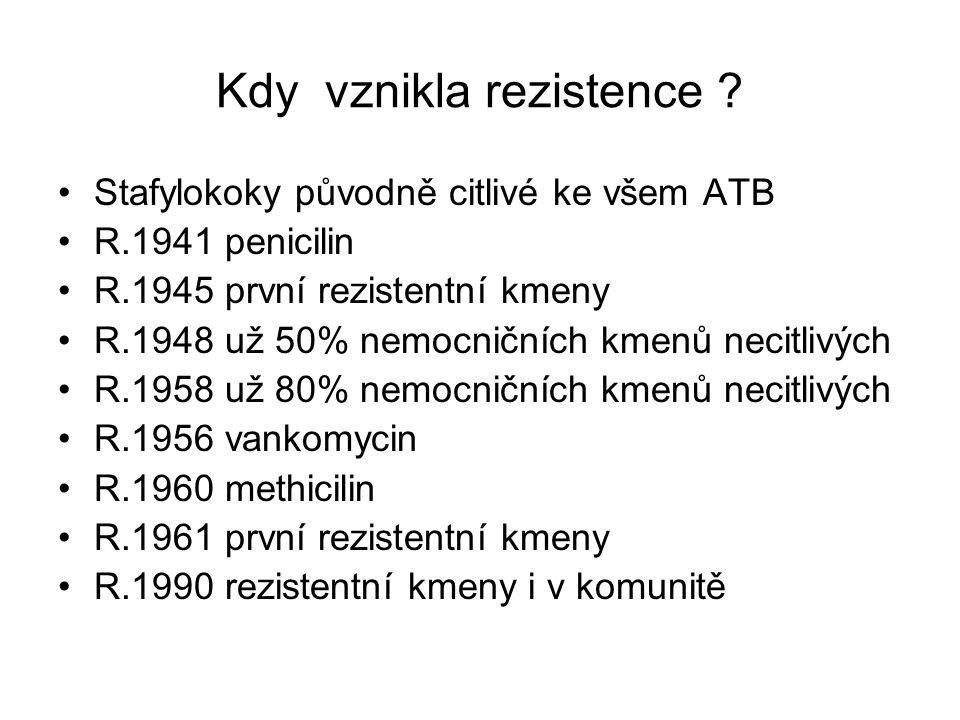 Kdy vznikla rezistence