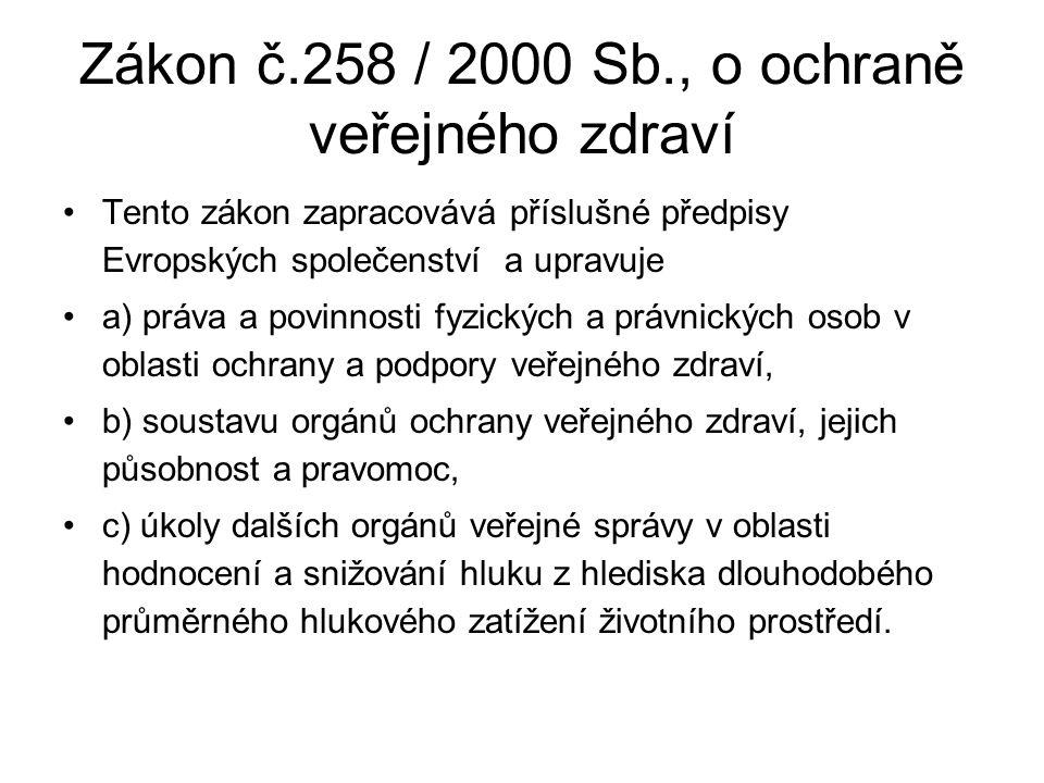 Zákon č.258 / 2000 Sb., o ochraně veřejného zdraví